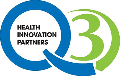 Q3 Health Innovation Partners Logo (Partnership between the hospital associations in New Jersey, Ohio, and Pennsylvania)