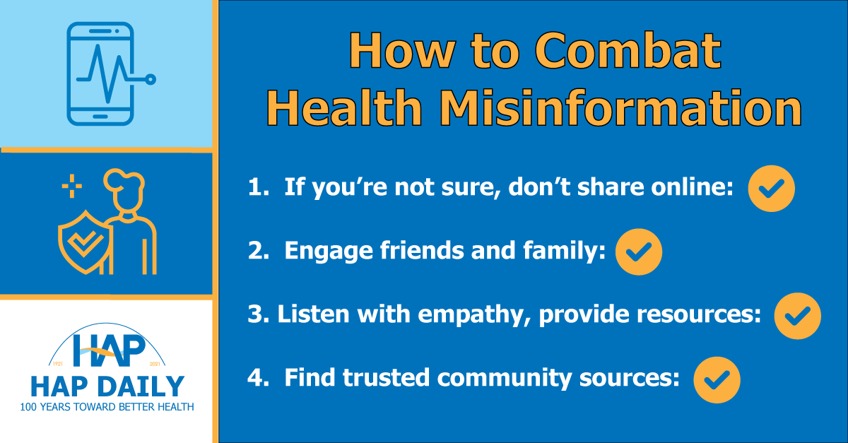 Four steps to prevent health misinformation in your community