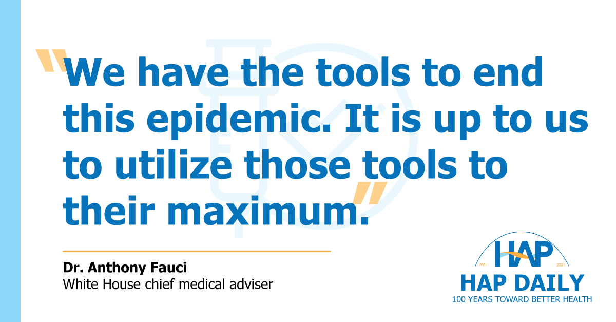 Quote from Dr. Anthony Fauci on COVID-19 vaccine efficacy