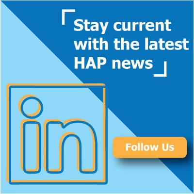 Follow HAP on LinkedIn