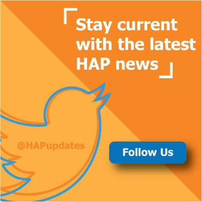 Follow HAP on Twitter